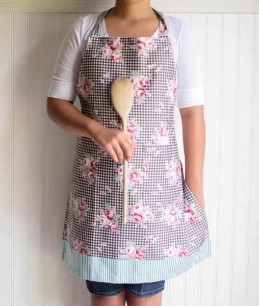 picture regarding Free Printable Apron Patterns titled 1 Backyard garden Magic Apron towards Lecien Materials! free of charge practice