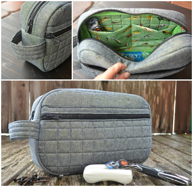 Passport to Summer Toiletry Bag Tutorial from Blue Susan Makes