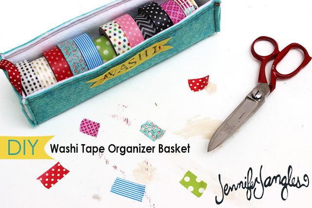 Washi Tape Organizing Basket from Jennifer Jangles