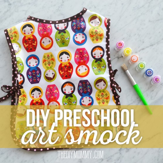 Simple Preschool Art Smock from the DIY Mommy