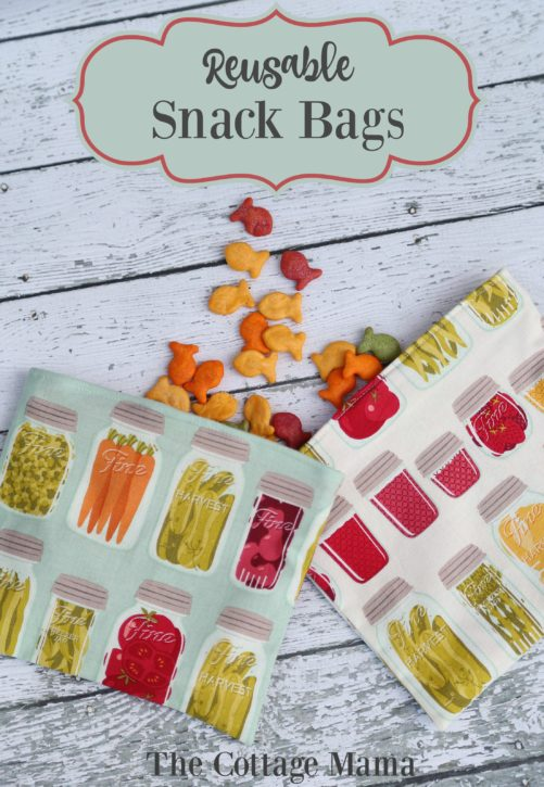 Reusable Snack Bag Tutorial from The Cottage Mama