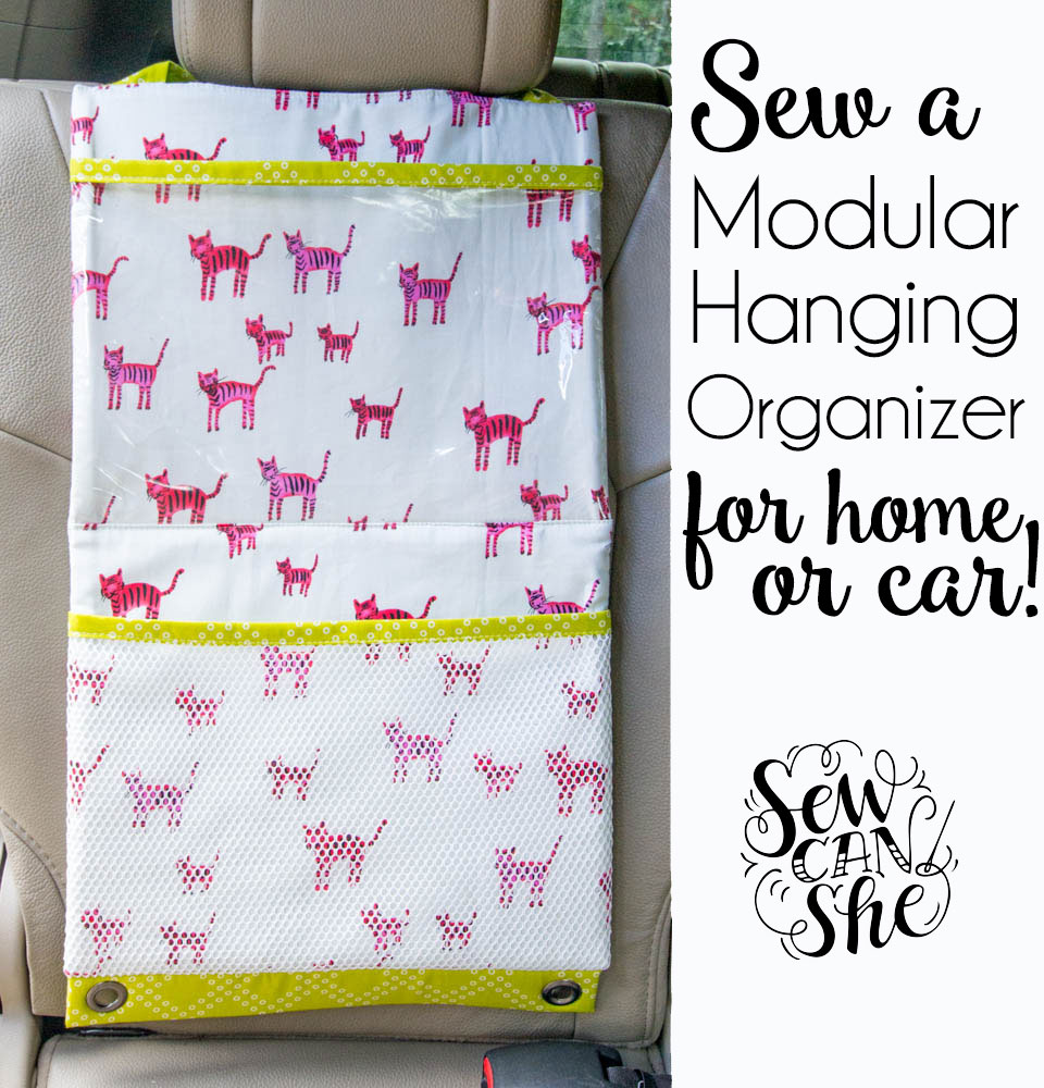 Sew a hanging organizer as long or short as you need!