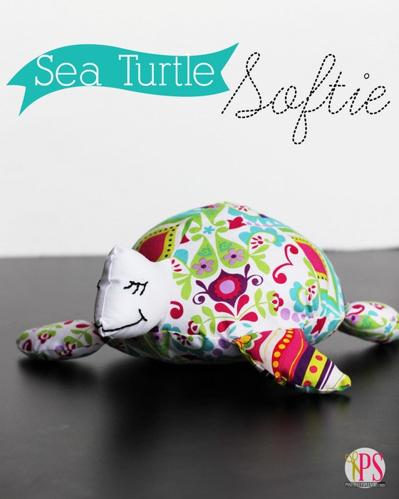 Sea Turtle Softie Pattern and Tutorial from Positively Splendid