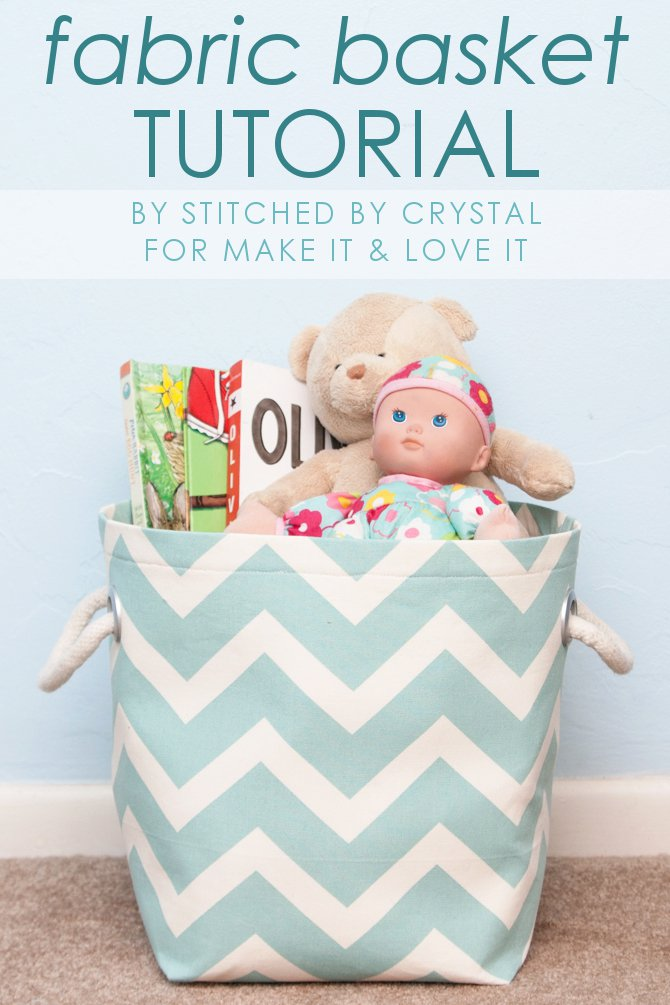 Fabric Storage Basket from Make It & Love It