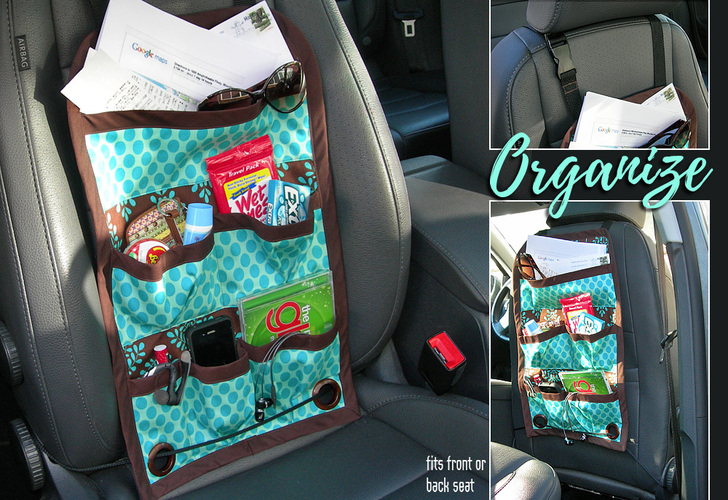 Car Caddy: Front or Back Seat Auto Organization from Sew 4 Home