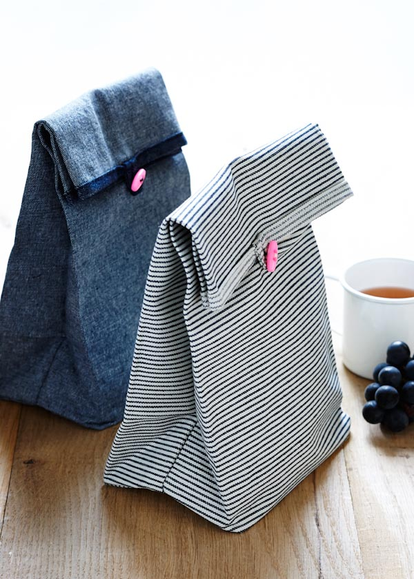 Button ReUsable Lunch Bags from Purl SoHo