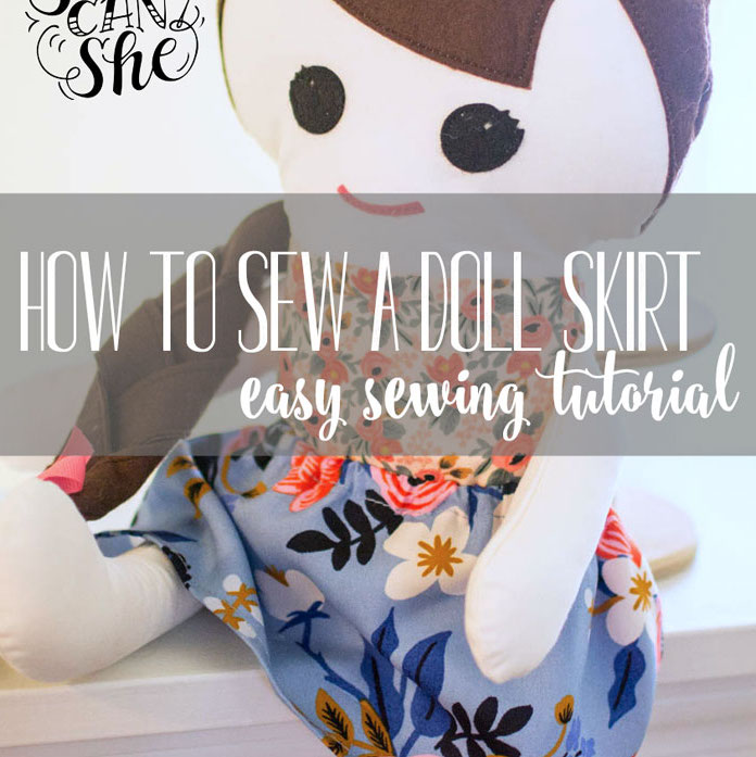 How to sew a doll skirt. Easy!