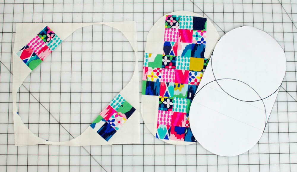 The orphan quilt block that I cut this pouch piece from was my Grandmother's Cross tutorial.