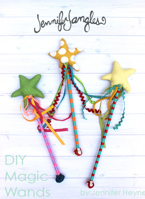 DIY Magic Wands from Jennifer Jangles