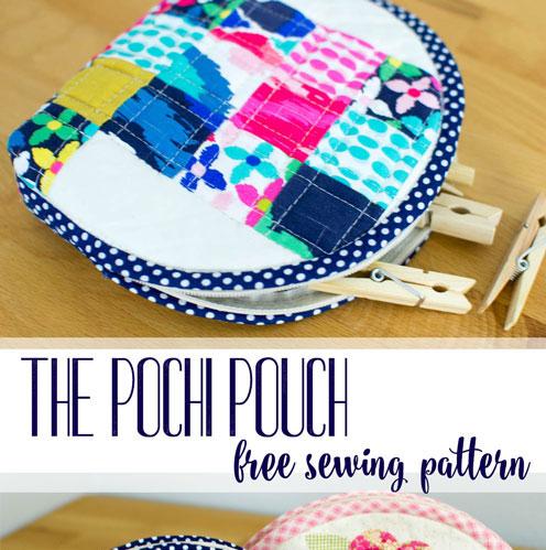 Pochi Pouch free sewing pattern.