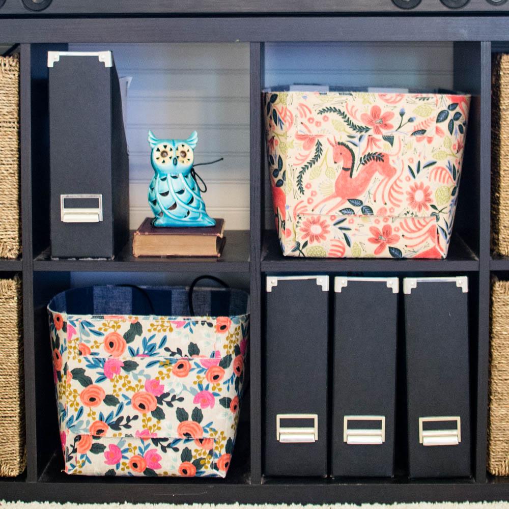 use of fabric storage baskets