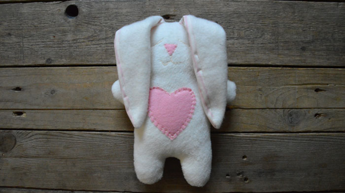 Snuggle Bunny Free Sewing Pattern & Instructions from Miss Daisey
