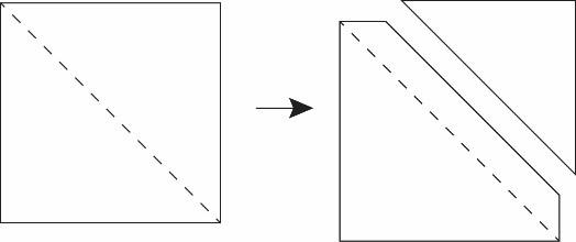 How to make a half square triangle unit.
