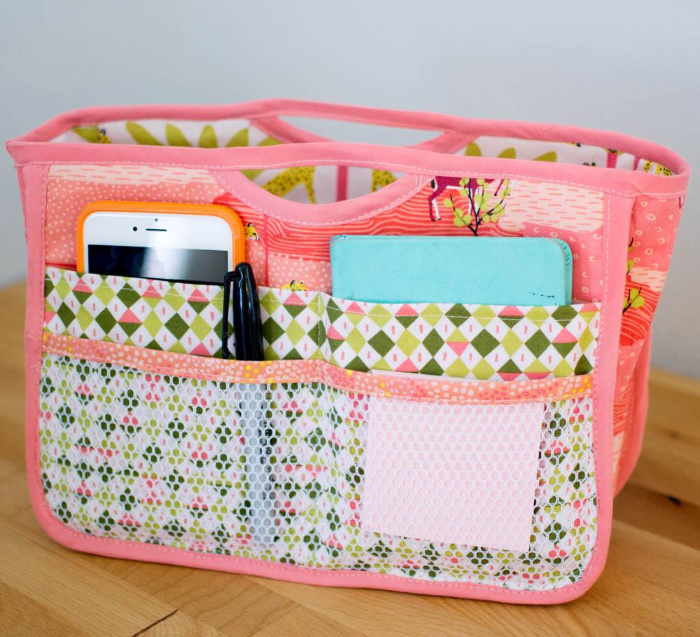 handy purse organizer sewing pattern