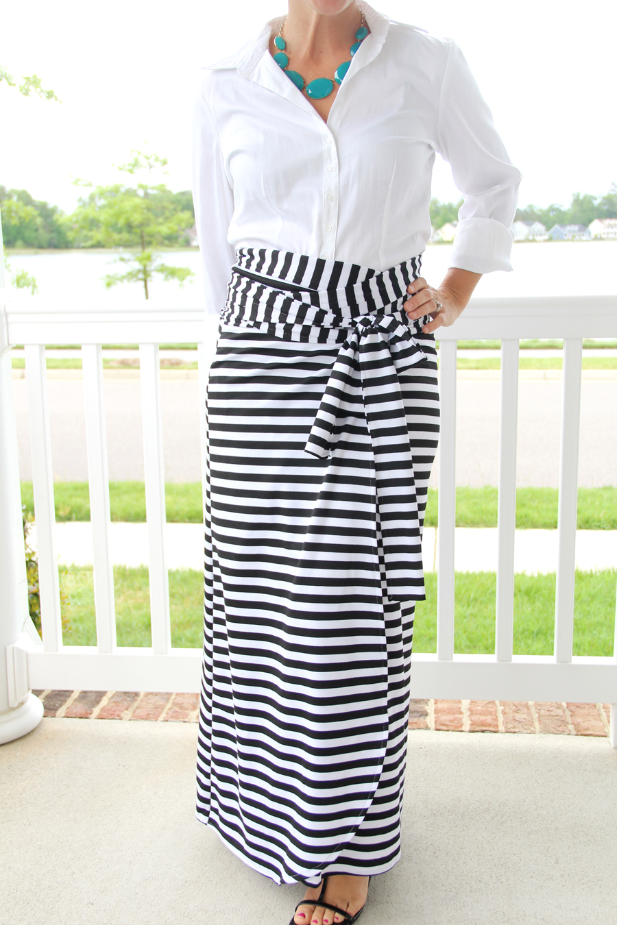 Wrap Maxi Skirt DIY from the Sewing Rabbit