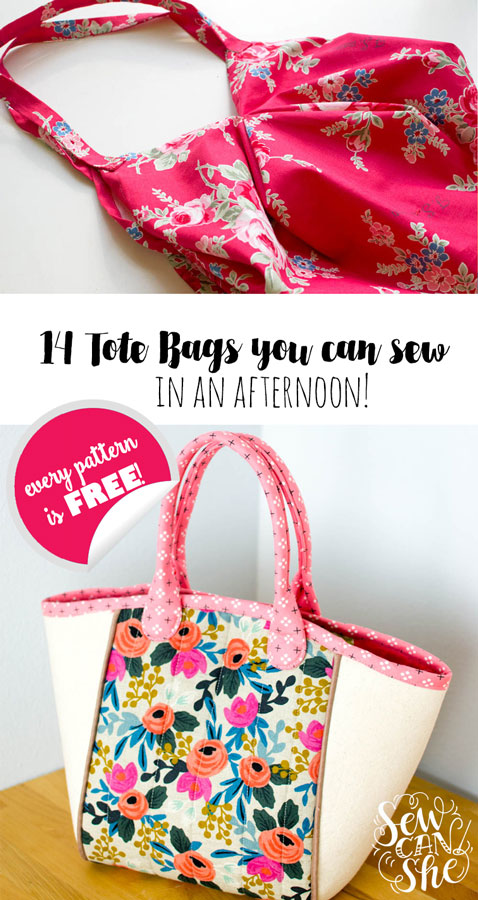 1592df80847a6 14+ Free Tote Bag Patterns You Can Sew in a Day! (plus tips to make ...