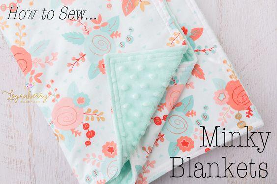 Minky Baby Blanket Tutorial from Loganberry Handmade