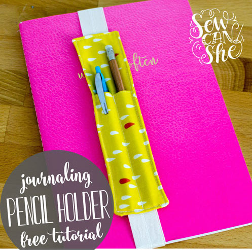 Journaling pencil or pen holder sewing pattern.