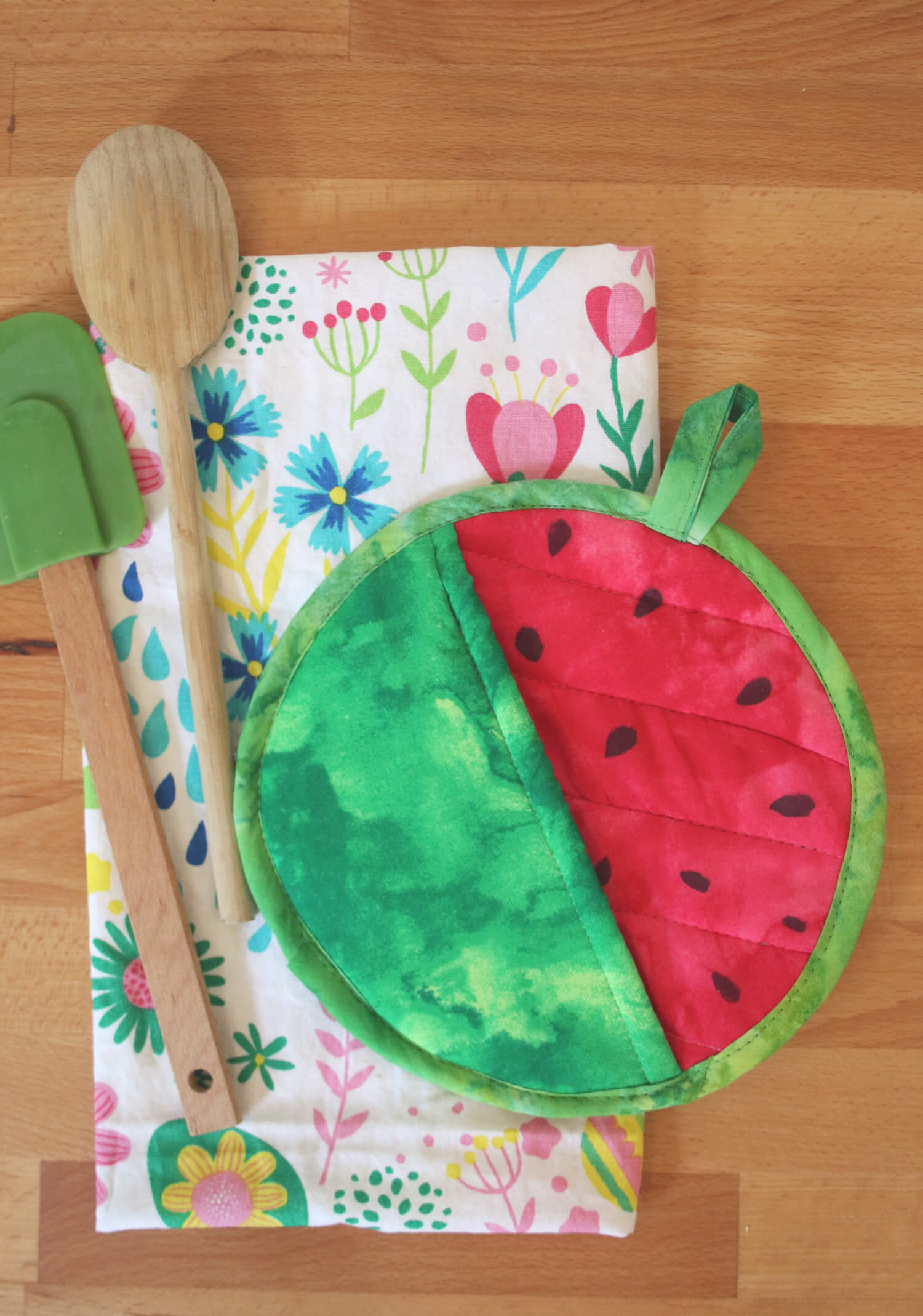 WATERMELON POTHOLDER DIY from A Beautiful Mess!
