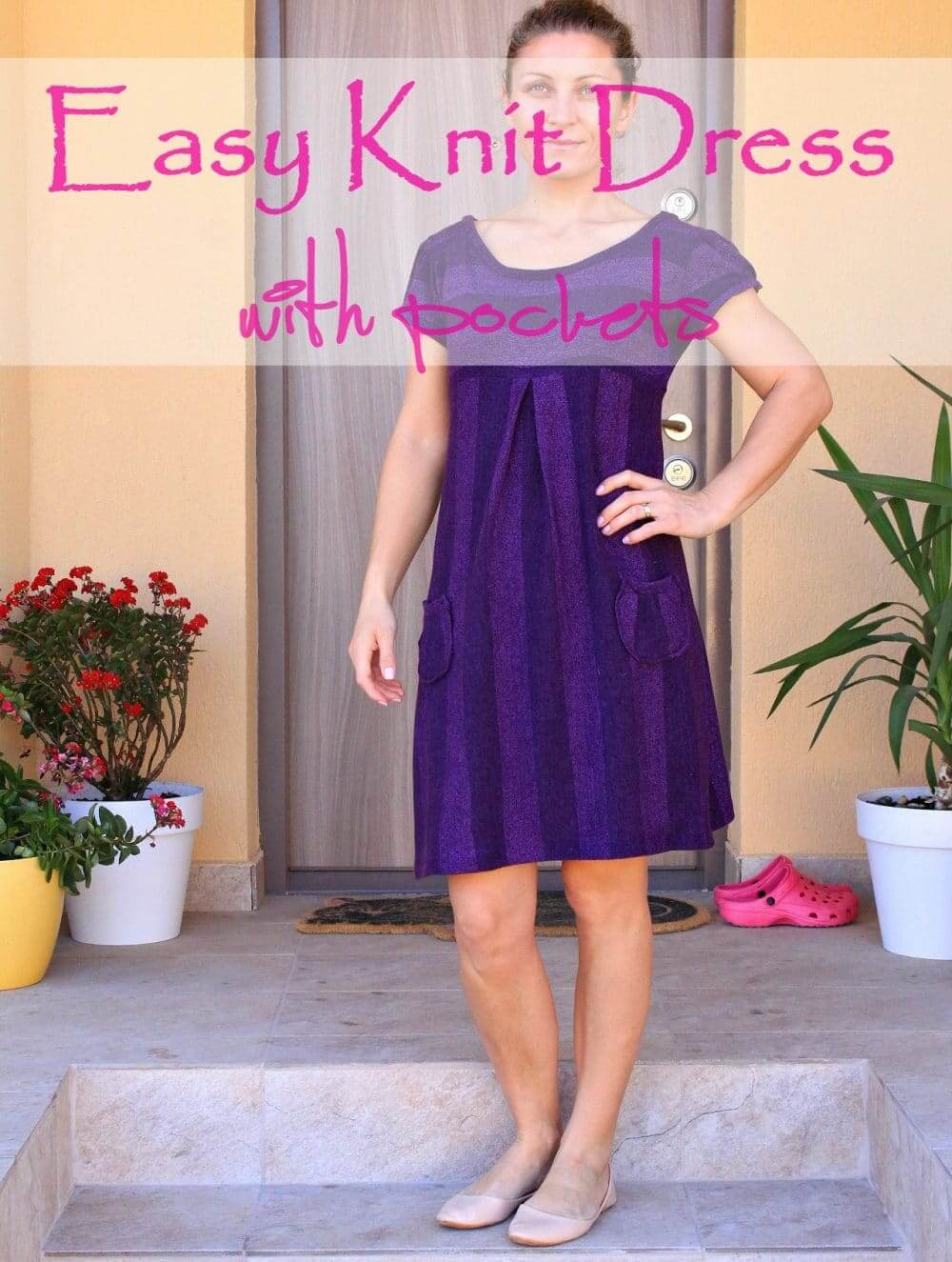 EASY KNIT DRESS WITH POCKETS from Creative Homemaking