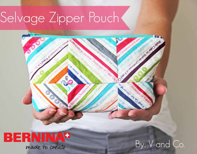 selvage zipper pouch from V and Co