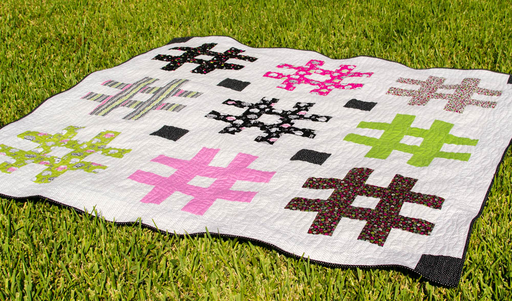 The Jumbo Hashtag Quilt {free pattern!} — SewCanShe | Free Sewing ...