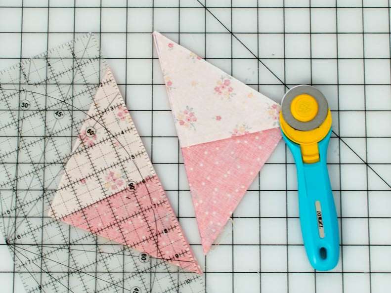 how to sew quarter square triangles