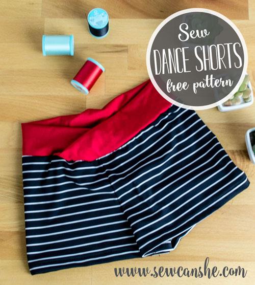 Free Dance Shorts Sewing Pattern