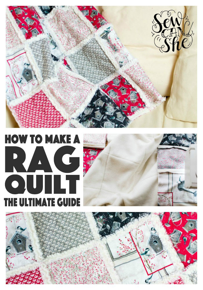 The front of my rag quilt features Winter Garden from QT Fabrics