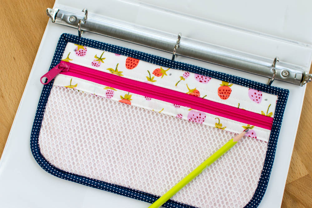 Show Off Saturday    Sewing 3-ring Pencil Pouches