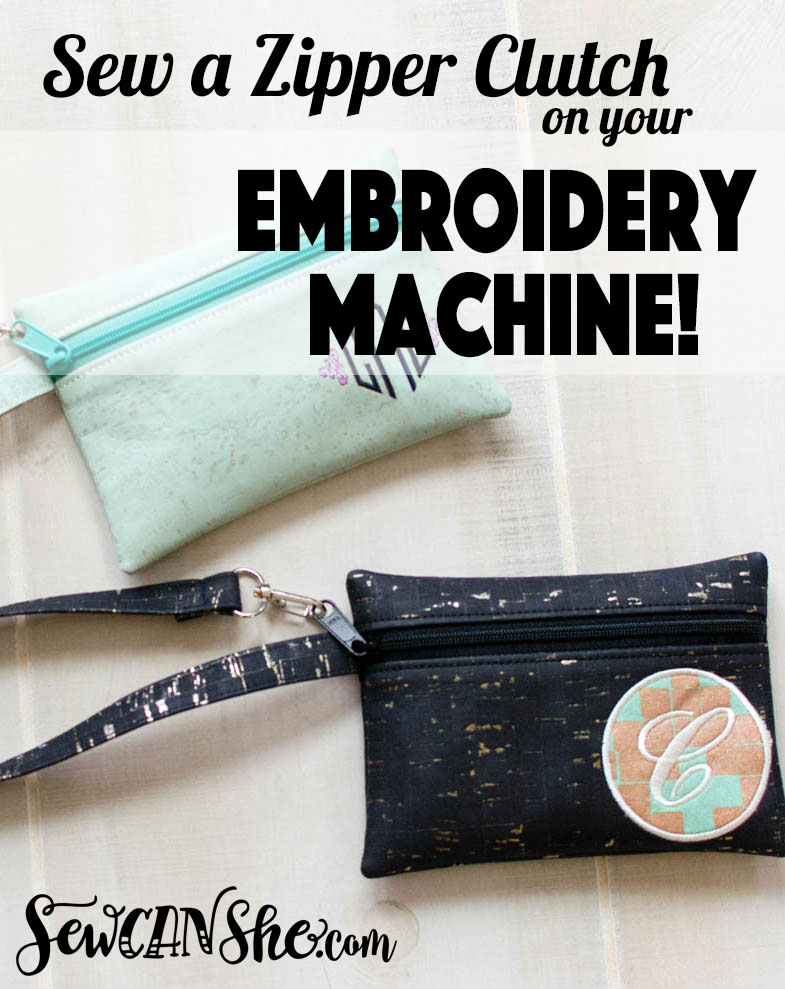 Sew an In-The-Hoop Zipper Clutch on your Embroidery Machine! {video