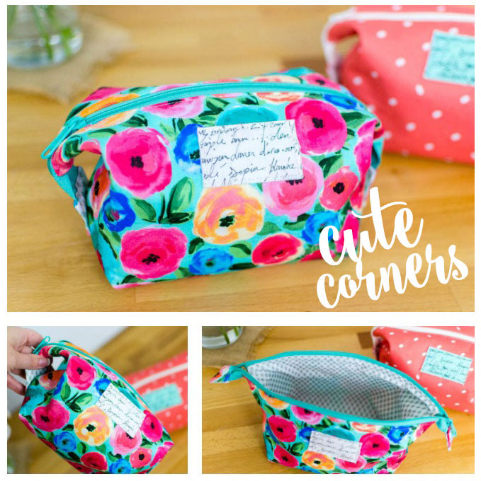 Cute Corners Pouches - no extra hardware required!
