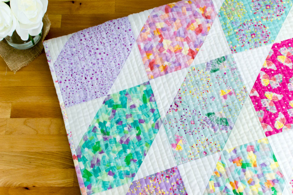 Fat Quarter Fancy Quilt. Click for the free pattern.