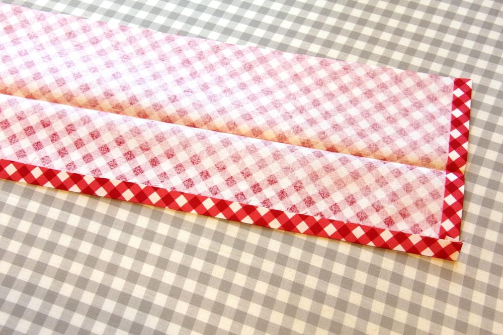 14. long edge of waistband pressed.JPG