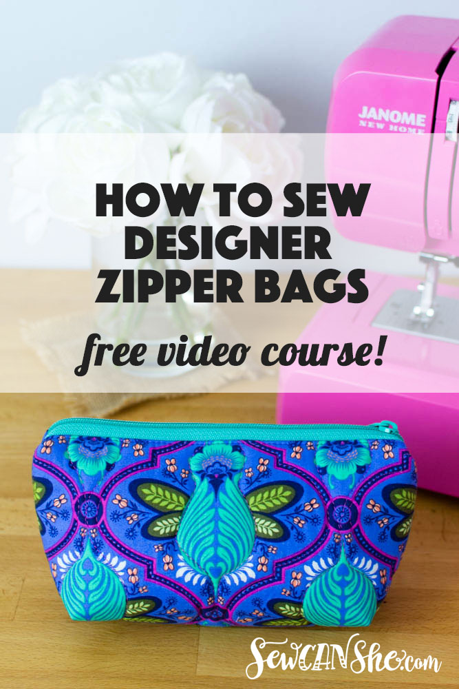How To Sew Designer Zipper Bags Video