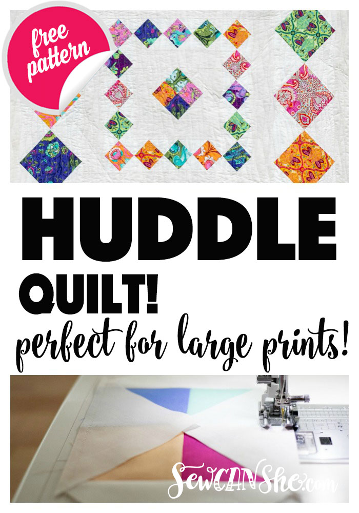Huddle Quilt - Easy and Free Diamond in a Square Pattern