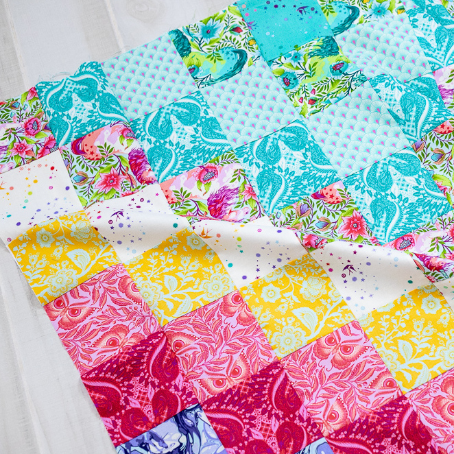 photograph regarding Pattern Printable identified as Sew a Coloration Via Range Quilt! absolutely free quilt behavior with