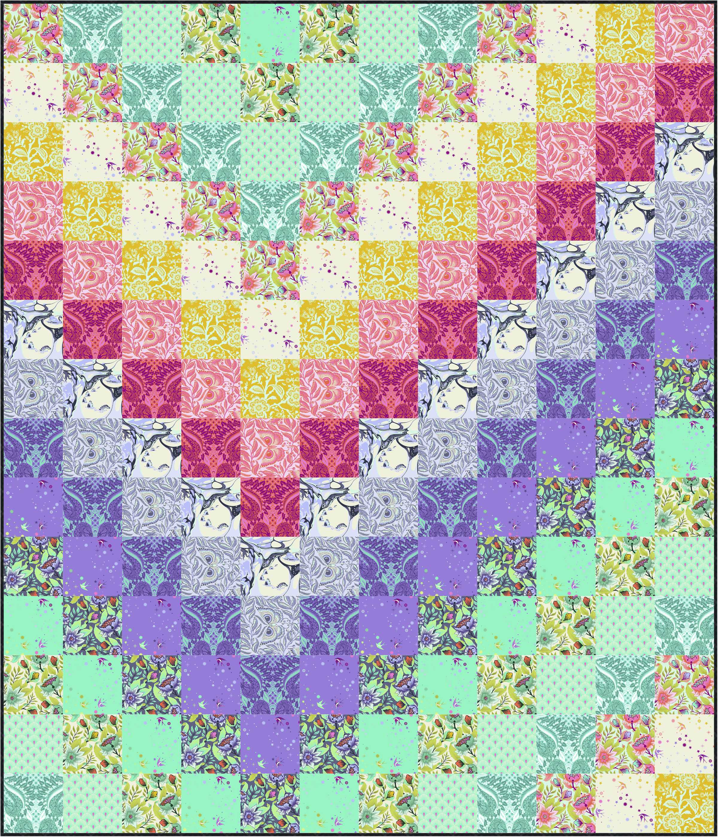 photo relating to Printable Pattern named Sew a Coloration By means of Selection Quilt! cost-free quilt practice with