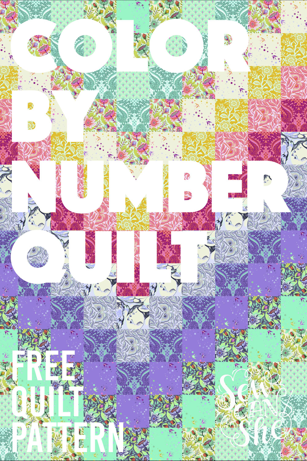 photo about Free Printable Machine Quilting Designs titled Sew a Colour As a result of Variety Quilt! free of charge quilt practice with