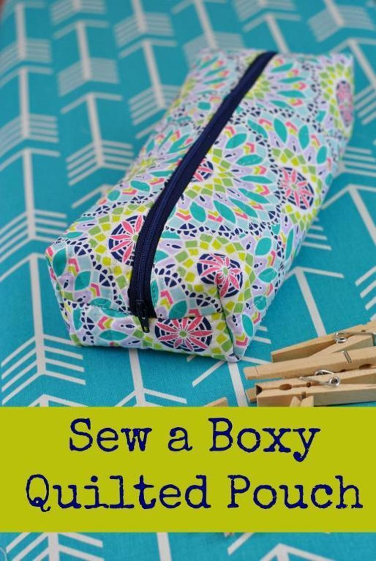 Friday Spotlight A Classic Quilted Boxy Pouch Sewcanshe Free Sewing Patterns Tutorials