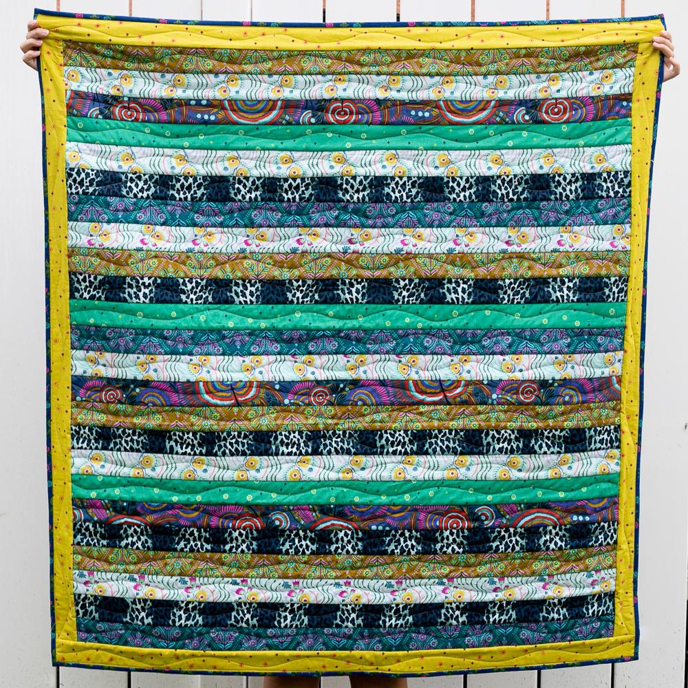 reversible quilt back