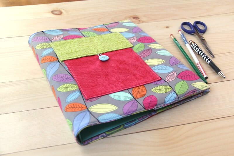 Padded Binder Cover by Crafty Staci for SewCanShe 3.JPG