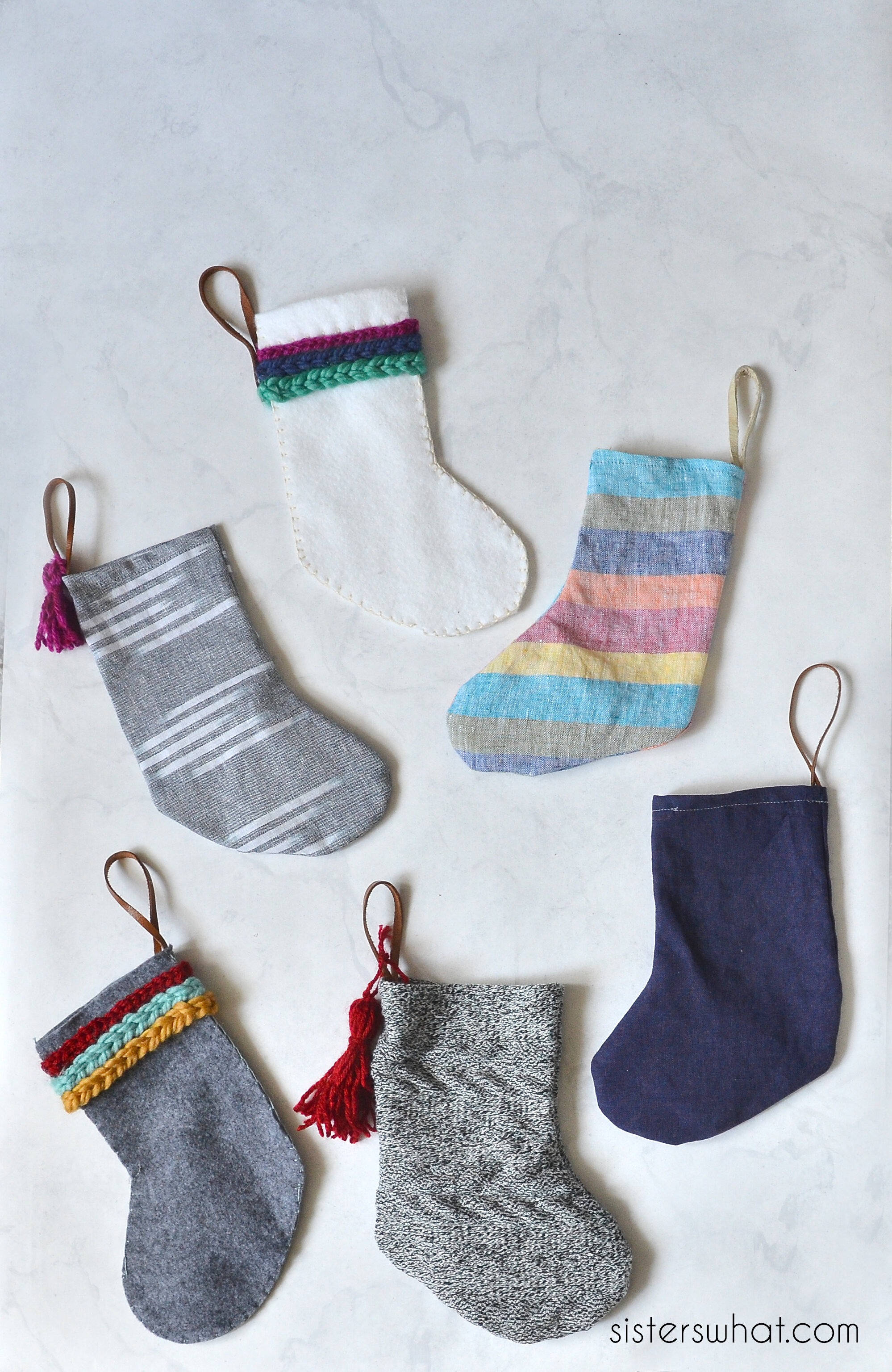 Sisters, What! mini stockings felt and fabric.jpg