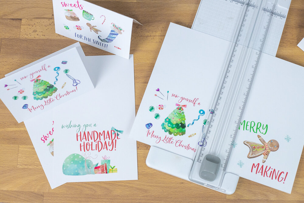Scroll down to see how to get these cute Handmade Holiday Note Cards!