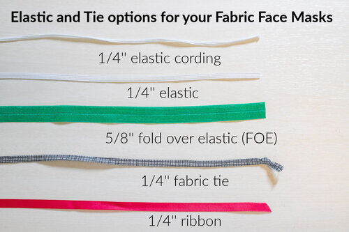 Elastic And Tie Solutions For Your Fabric Face Masks Sewcanshe Free Sewing Patterns And Tutorials