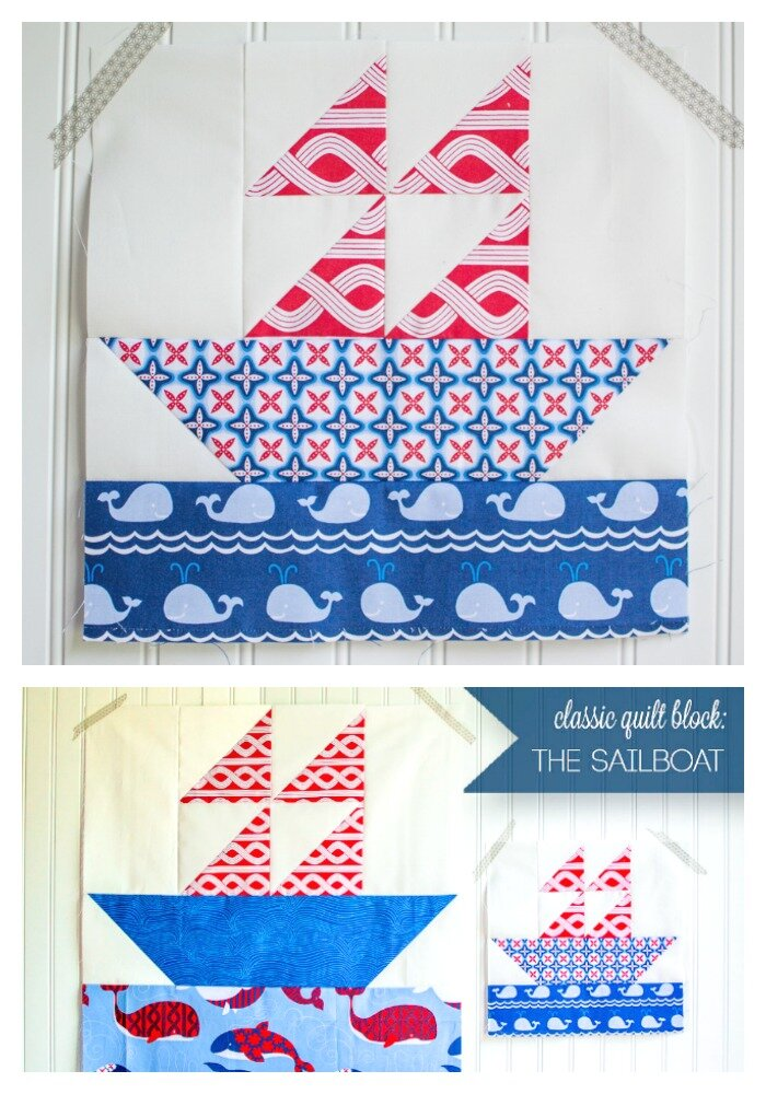 Easy quilt block - the sailboat