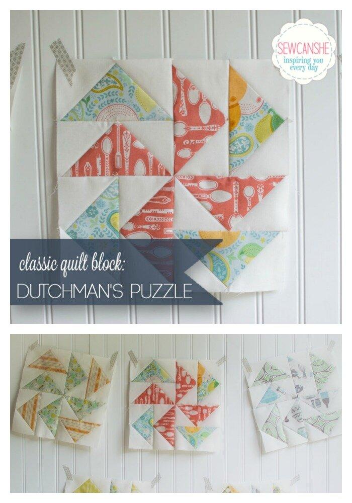 dutchmans puzzle easy quilt block