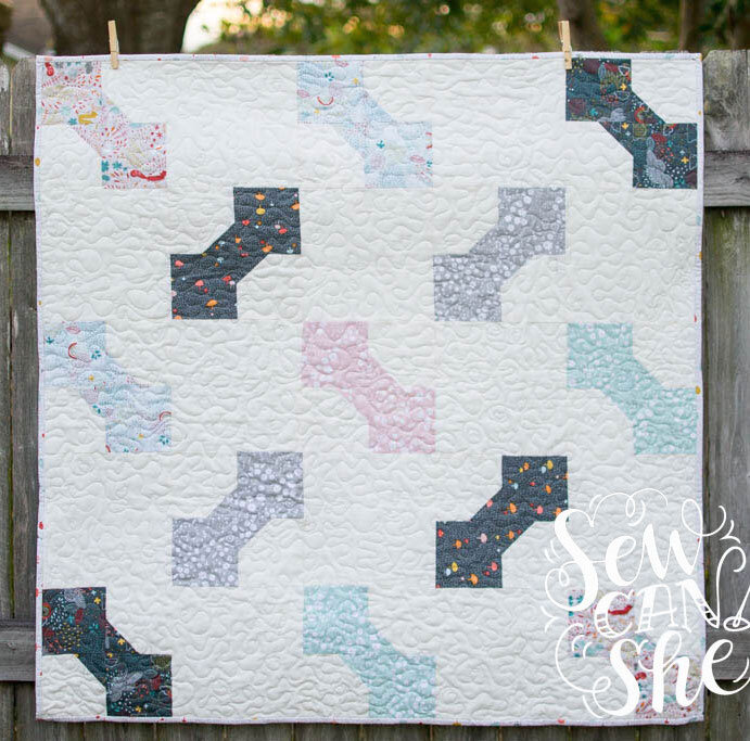 bow tie baby quilt pattern fat quarter friendly