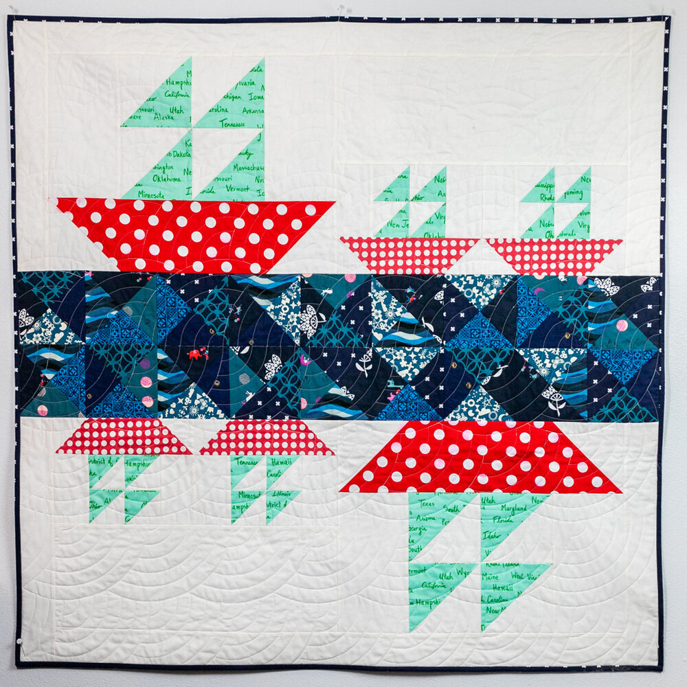 sailboat baby quilt free pattern
