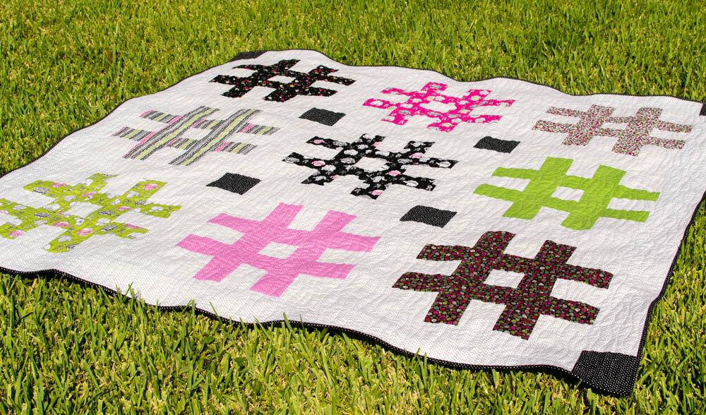 hashtag fat quarter quilt pattern